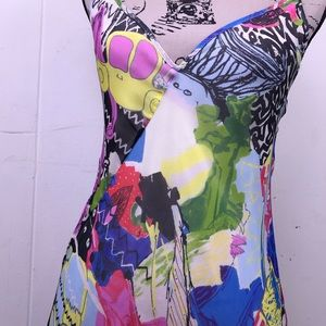Christian Lacroix Bazar Silk Graffiti Dress 38 4 6